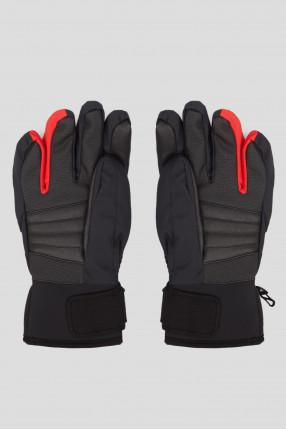 Мужские черные лыжные перчатки 1