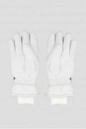 Женские белые кожаные перчатки 1