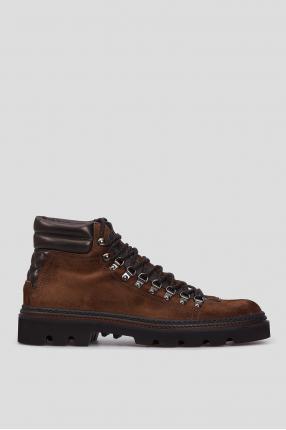 Мужские коричневые замшевые ботинки