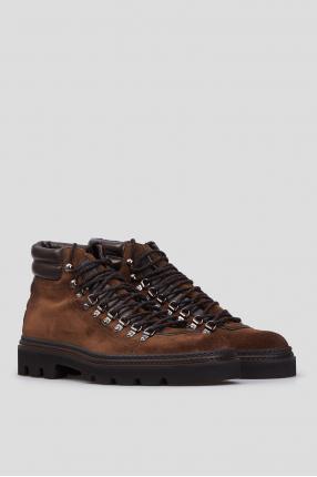 Мужские коричневые замшевые ботинки 1