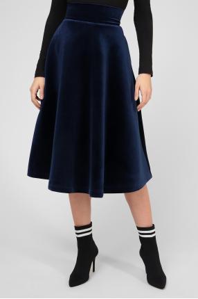 Женская темно-синяя юбка 1
