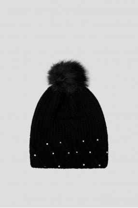 Женская черная шапка 1