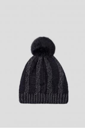 Женская синяя шапка 1
