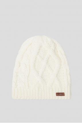Женская белая шапка