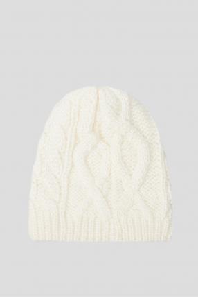 Женская белая шапка 1