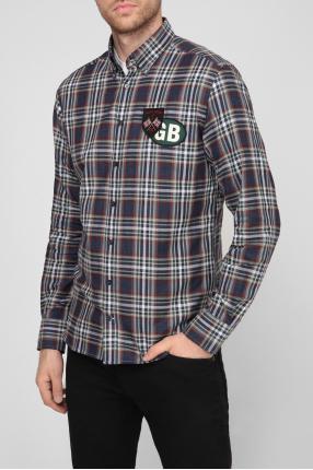 Мужская рубашка в клетку Button Down 1