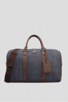Мужская серая дорожная сумка