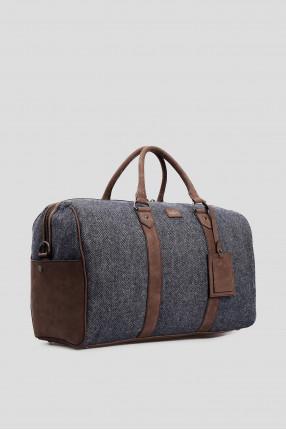 Мужская серая дорожная сумка  1