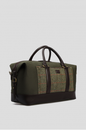 Мужская зеленая дорожная сумка  1