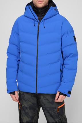 Мужская синяя лыжная куртка 1