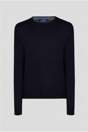Мужской темно-синий шерстяной джемпер