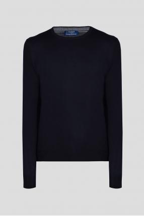 Мужской темно-синий кашемировый свитер