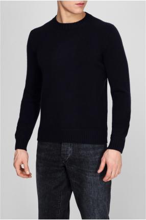 Мужской темно-синий кашемировый свитер 1