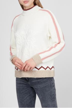 Жіночий білий светр 1