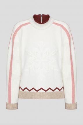 Жіночий білий светр