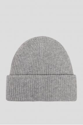 Мужская серая шерстяная шапка 1