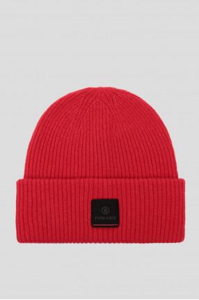 Мужская красная шерстяная шапка