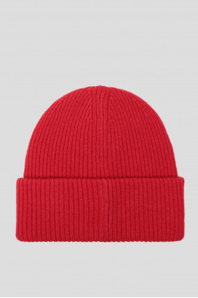 Мужская красная шерстяная шапка 1