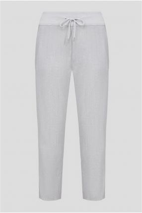 Женские серые шерстяные брюки
