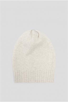 Женская белая шерстяная шапка 1