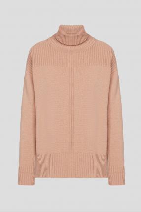 Жіночий бежевий кашеміровий светр
