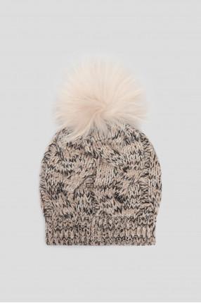 Женская кашемировая шапка  1