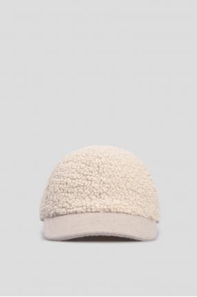 Женская бежевая кепка