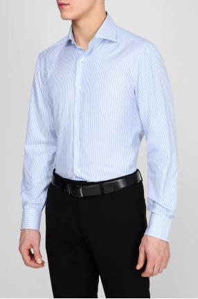 Мужская рубашка в полоску 1