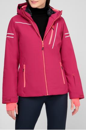 Женская малиновая куртка 1