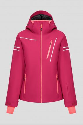 Женская малиновая куртка
