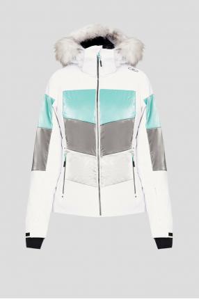 Женская белая лыжная куртка