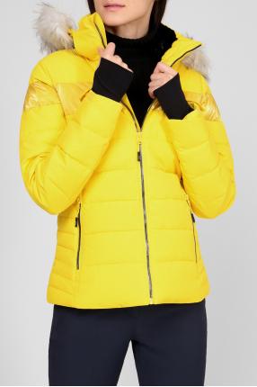 Женская желтая лыжная куртка 1