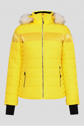 Женская желтая лыжная куртка