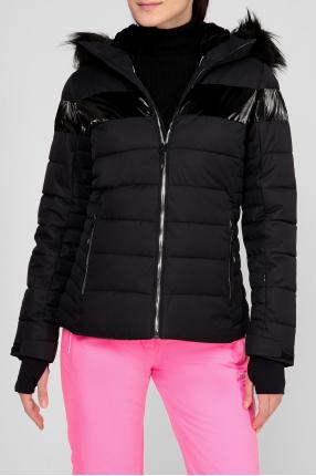 Женская черная лыжная куртка 1