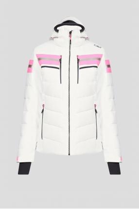Жіноча біла лижна куртка
