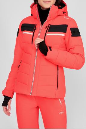 Женская коралловая лыжная куртка 1