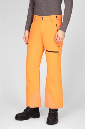 Мужские оранжевые лыжные брюки 1