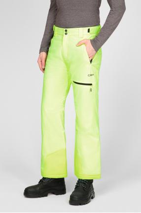 Мужские салатовые лыжные брюки 1