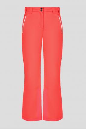 Женские коралловые лыжные брюки