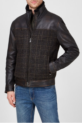 Мужская коричневая куртка 1