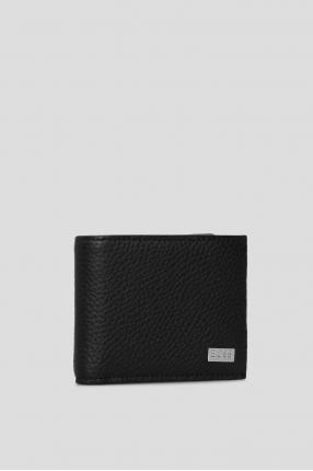 Мужской черный кожаный кошелек 1