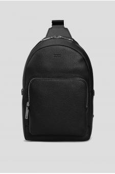 Мужская черная кожаная сумка