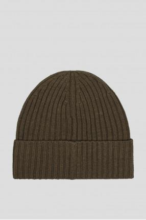 Мужская зеленая шерстяная шапка 1
