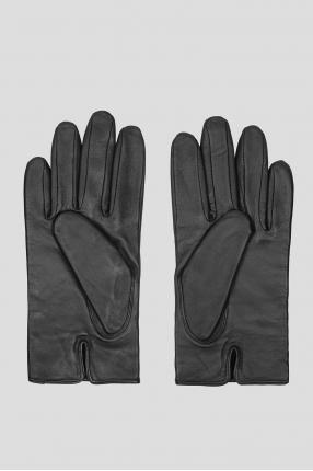 Мужские черные кожаные перчатки 1