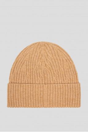 Мужская бежевая шапка 1
