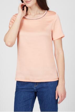 Женская коралловая футболка 1