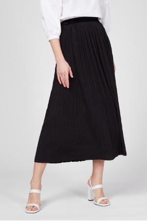 Женская черная юбка-плиссе 1