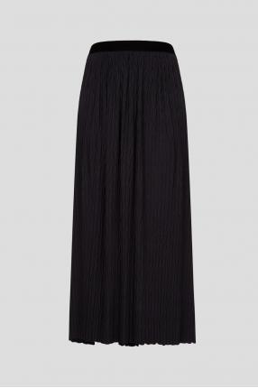 Жіноча чорна спідниця-плісе