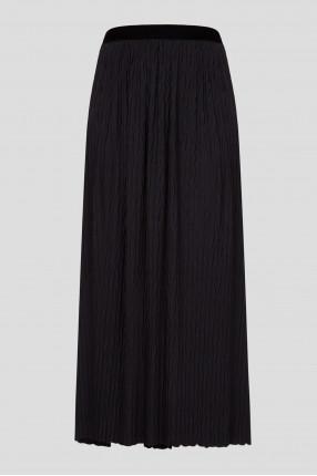 Женская черная юбка-плиссе