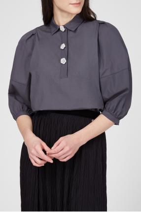 Женская темно-серая рубашка 1